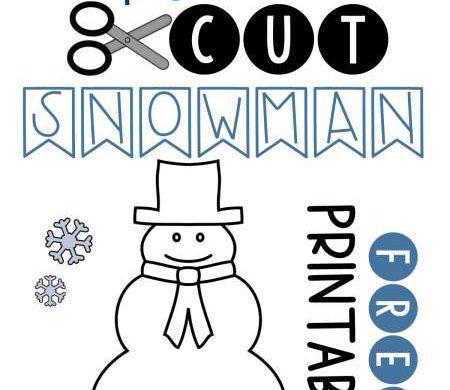 Fold & Cut: Snowman
